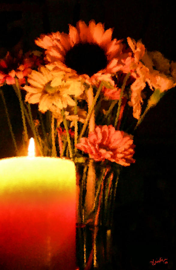 Candle Lit Digital Art  - Candle Lit Fine Art Print