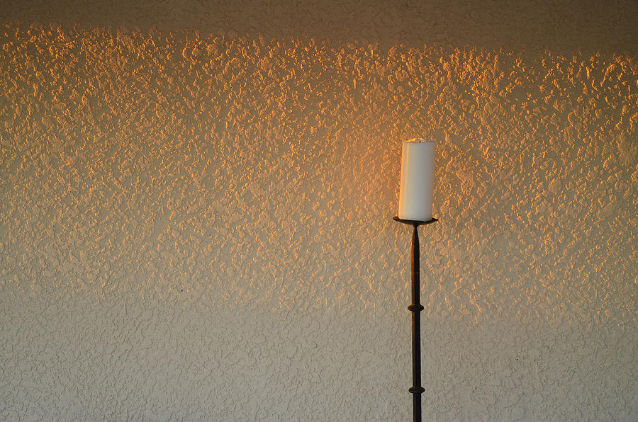 Candle With Fading Light Photograph