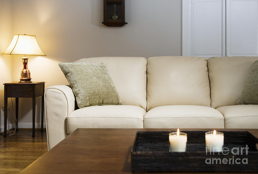 Candlelit Living Room Photograph