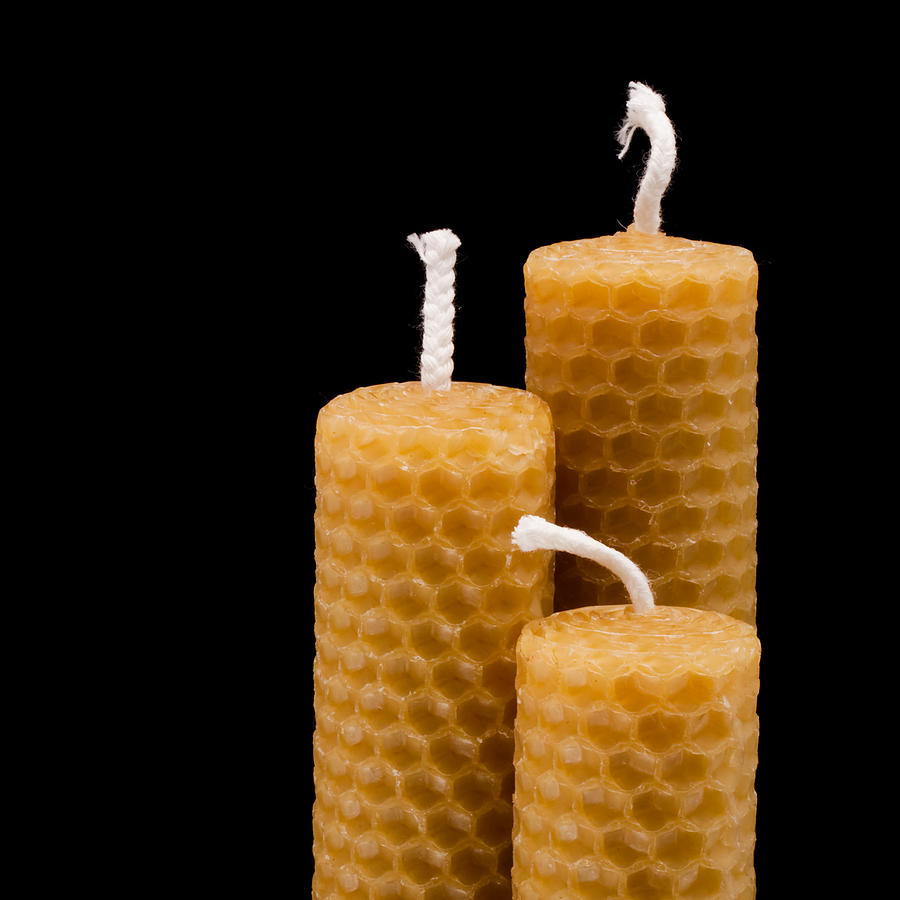 Beeswax Photograph - Candles by Tom Gowanlock