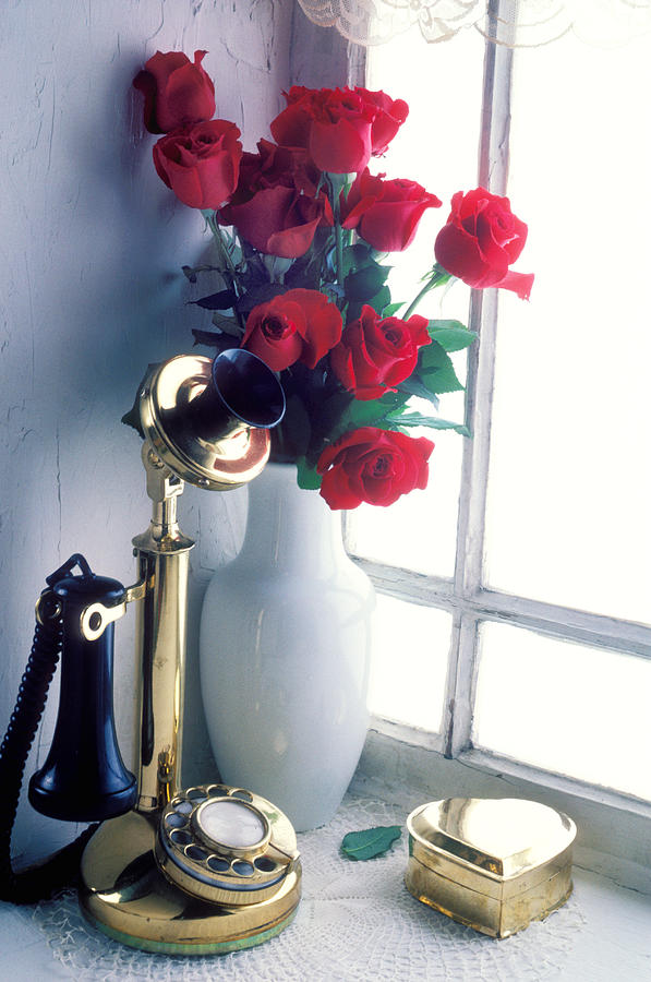 Candlestick Phone In Window Photograph