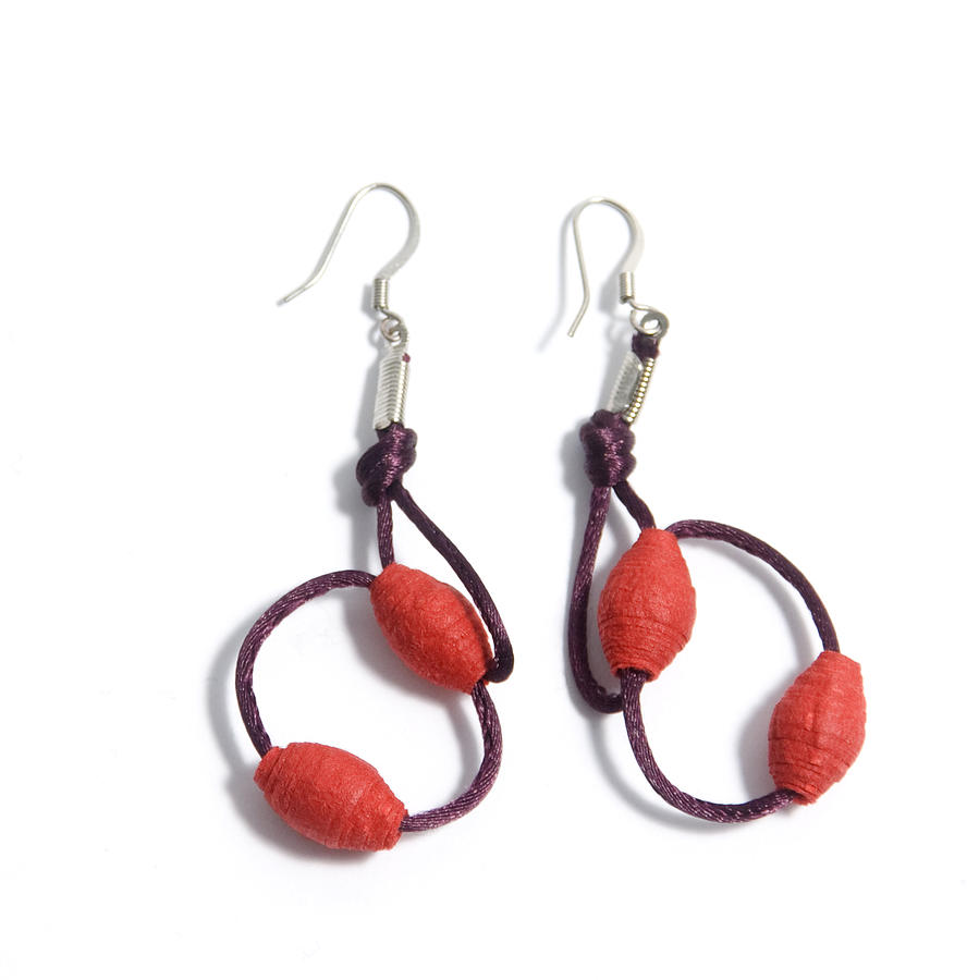 Handmade Paper Earrings ArtHandmade Paper Earrings