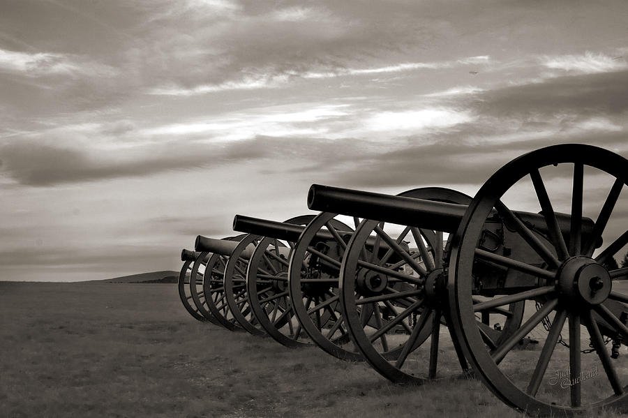 Cannon At Antietam Black And White Photograph  - Cannon At Antietam Black And White Fine Art Print