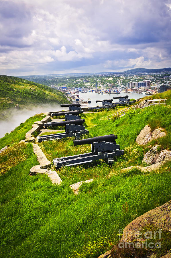 Cannons On Signal Hill Near St. Johns Photograph  - Cannons On Signal Hill Near St. Johns Fine Art Print