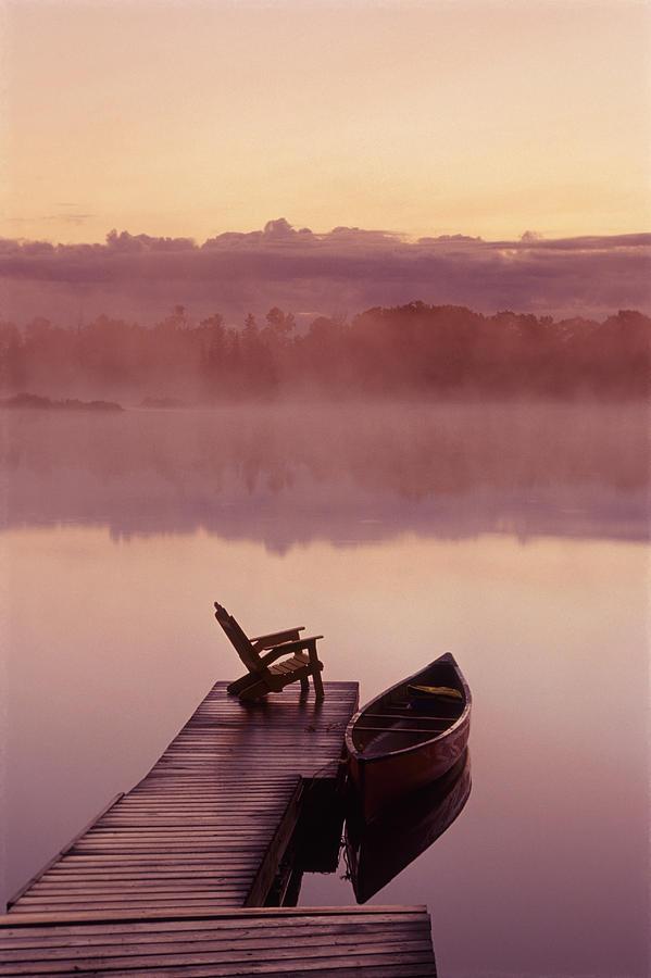 Canoe Dock, Pinawa, Manitoba Photograph