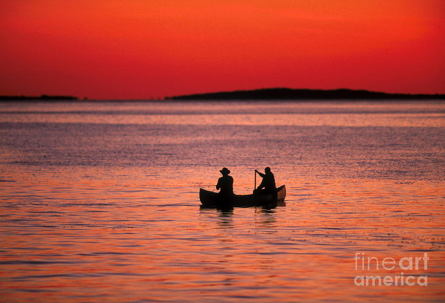 Canoe Fishing Photograph  - Canoe Fishing Fine Art Print
