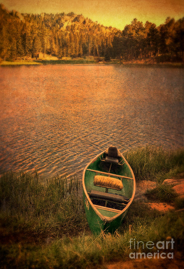 Canoe On Lake Photograph  - Canoe On Lake Fine Art Print