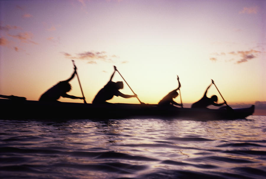 Canoe Race Photograph