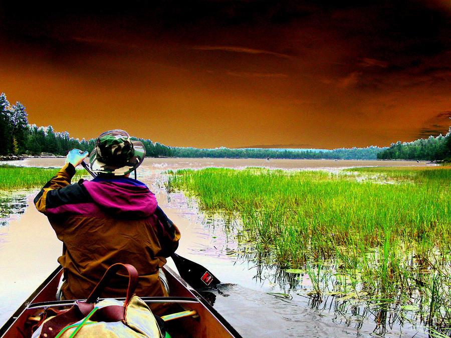Canoe Trip Digital Art