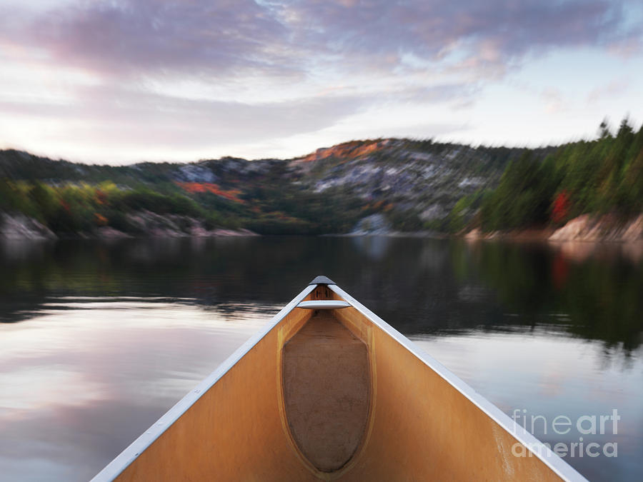 Canoeing In Ontario Provincial Park Photograph