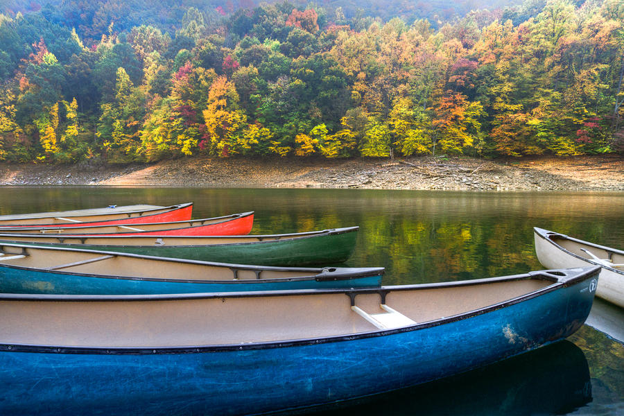 Canoes At Fontana Photograph  - Canoes At Fontana Fine Art Print