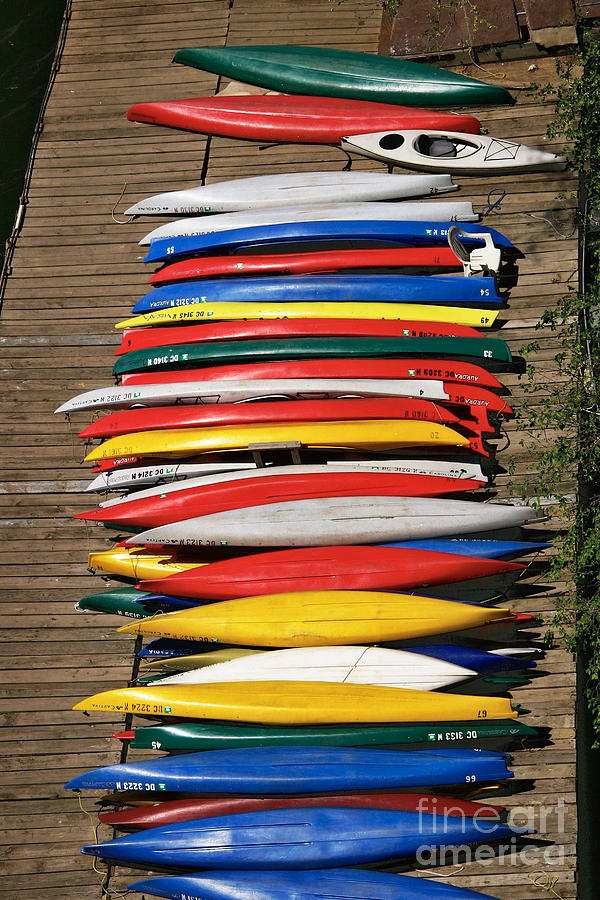 Canoes On A Dock Photograph