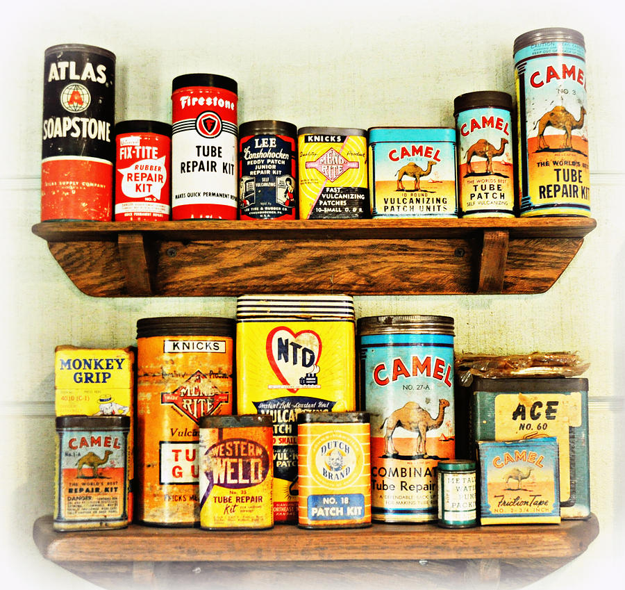 Antique Cans Photograph - Cans Of Old by Marty Koch