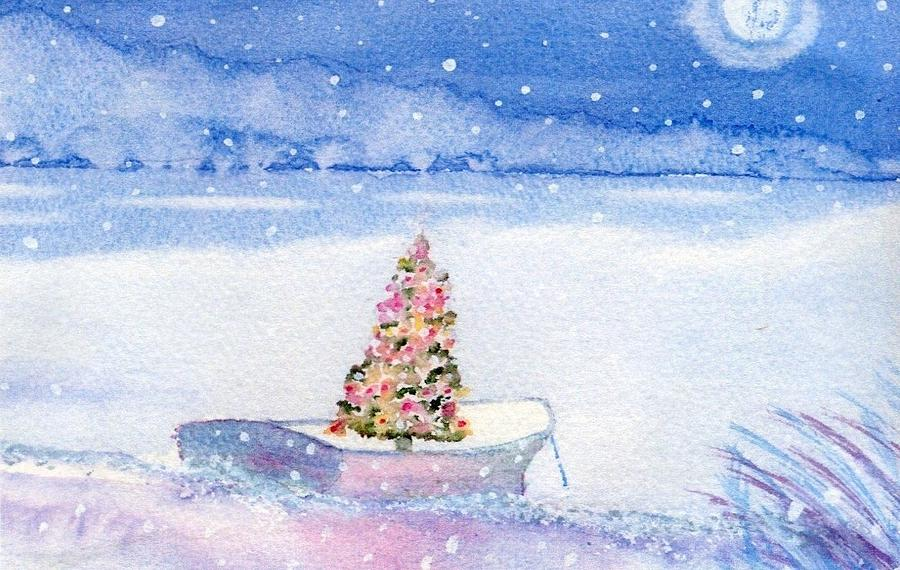 Cape Cod Christmas Tree Painting  - Cape Cod Christmas Tree Fine Art Print