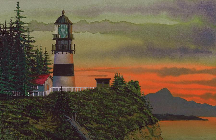 Cape Disappointment Painting  - Cape Disappointment Fine Art Print