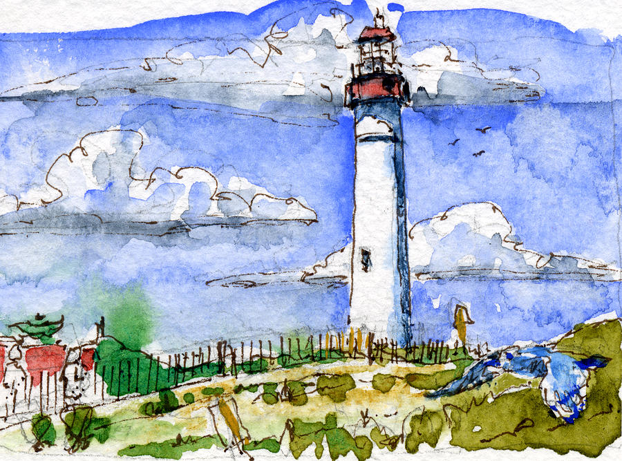 Cape May Lighthouse Study Painting  - Cape May Lighthouse Study Fine Art Print
