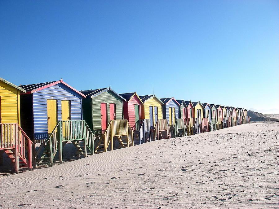 Cape Town Beachhuts Photograph