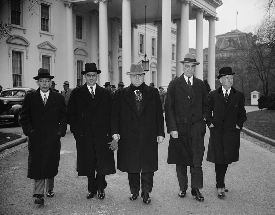 Capital And Labor Leaders Leaving Photograph