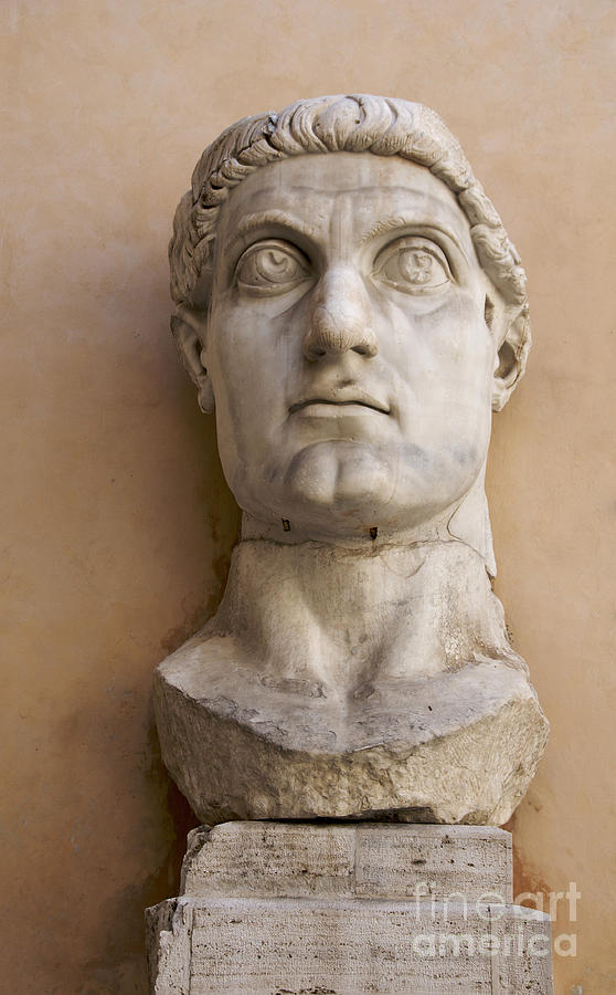 Works Photograph - Capitoline Museums Palazzo Dei Conservatori- Head Of Emperor Con by Bernard Jaubert