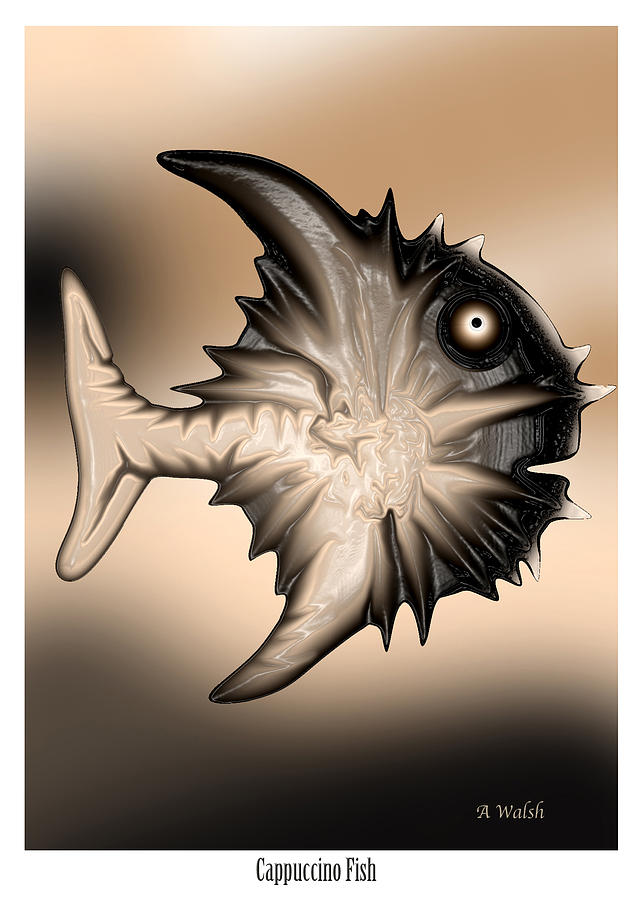 Cappuccino Fish Digital Art