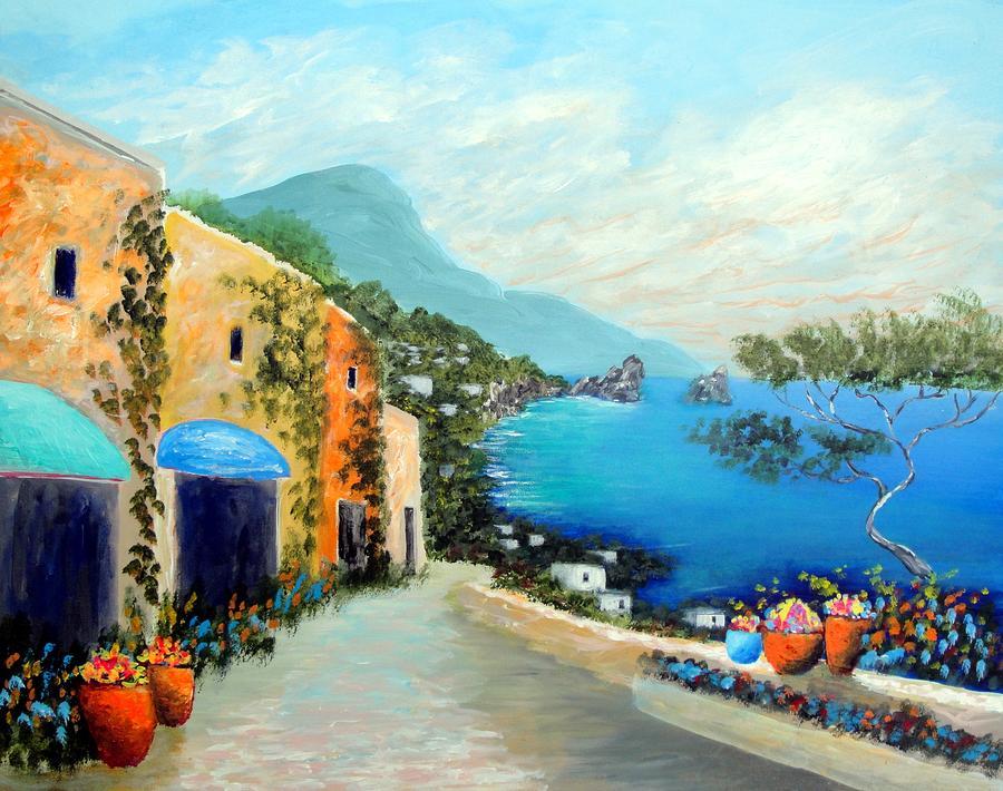 Capri Fantasies Painting