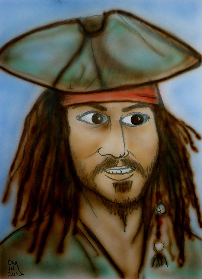 Johnny Depp Painting - Capt. Jack by Pete Maier