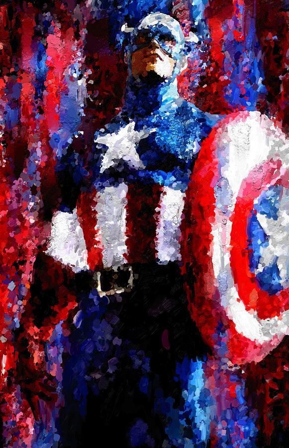 Captain America Signed Prints Available At Laartwork.com Coupon Code Kodak Painting  - Captain America Signed Prints Available At Laartwork.com Coupon Code Kodak Fine Art Print