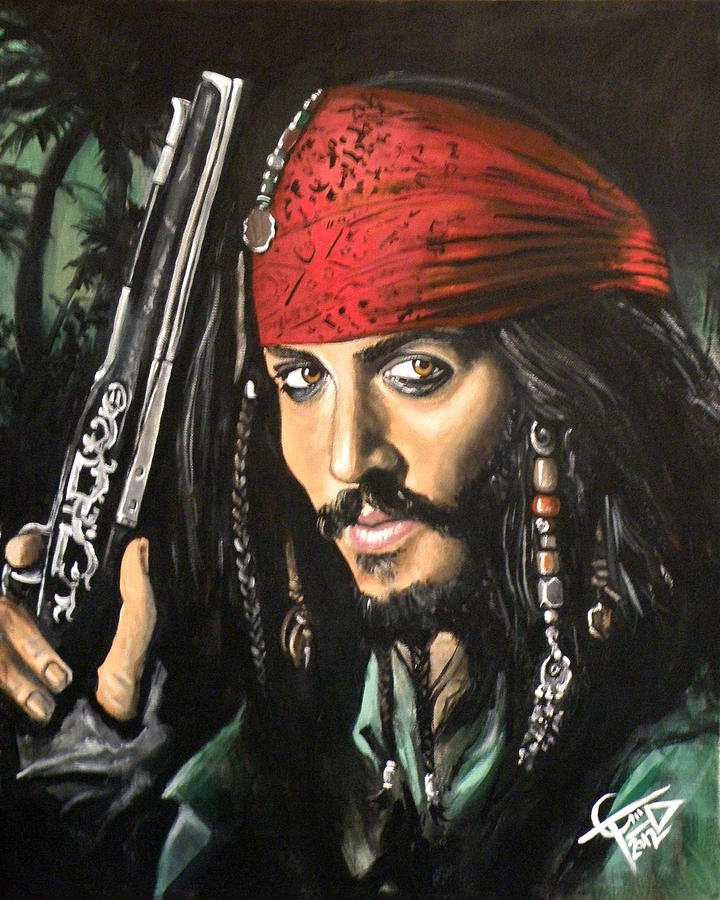 Captain Jack Sparrow Painting  - Captain Jack Sparrow Fine Art Print
