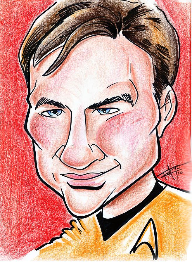 Big Mike Roate Drawing - Captain James T. Kirk by Big Mike Roate