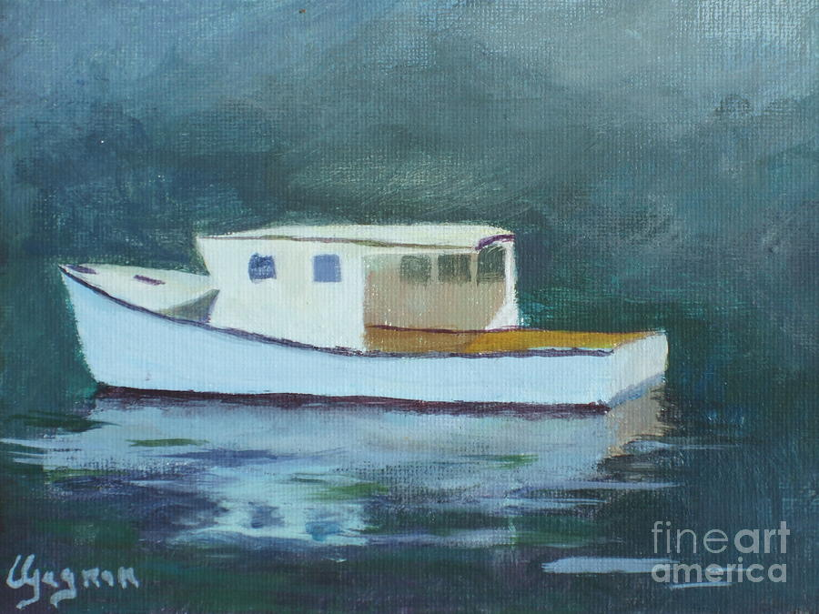 Gloucester Harbor Painting - Captain Tom by Claire Gagnon