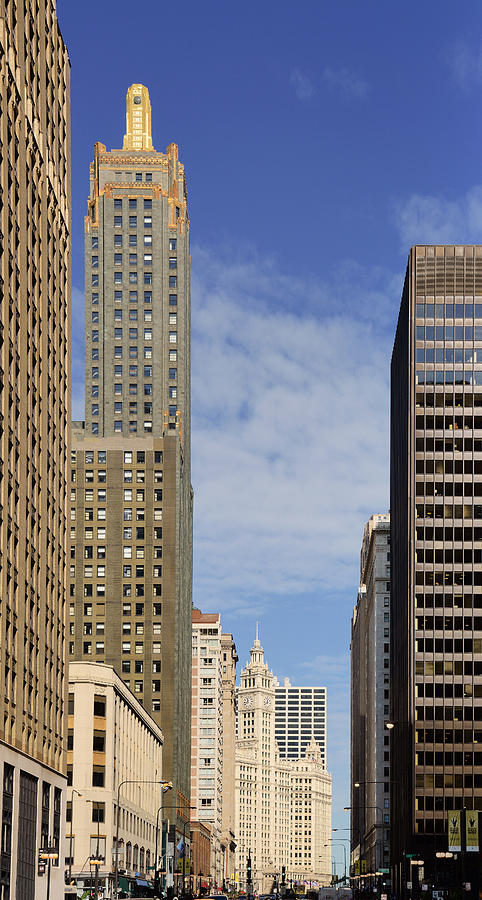 Carbide And Carbon And Wrigley Building - Two Chicago Classics Photograph