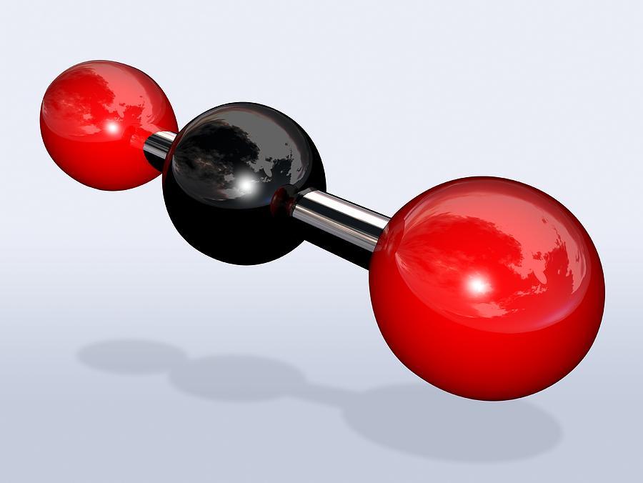 Carbon Dioxide Photograph - Carbon Dioxide Molecule by Miriam Maslo
