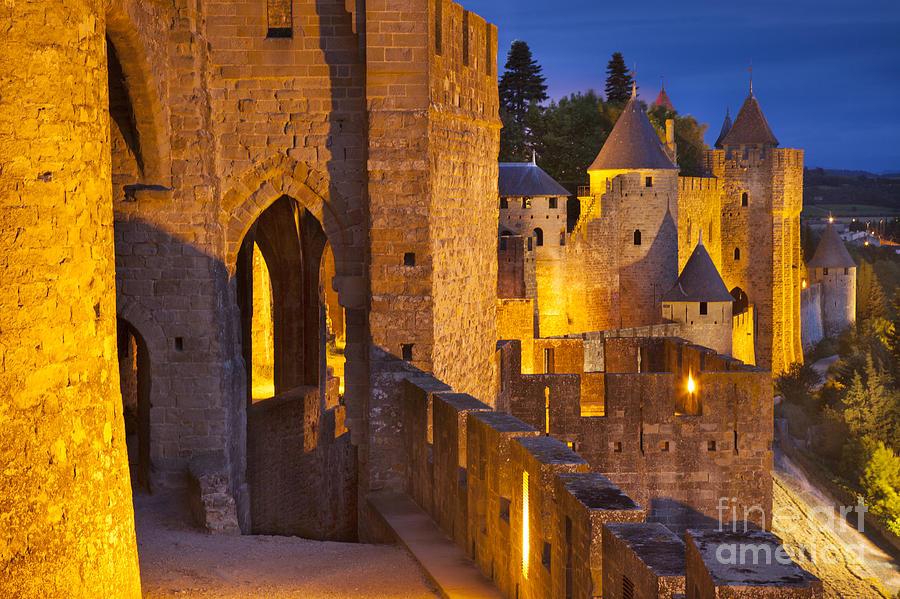 Architecture Photograph - Carcassonne Ramparts by Brian Jannsen