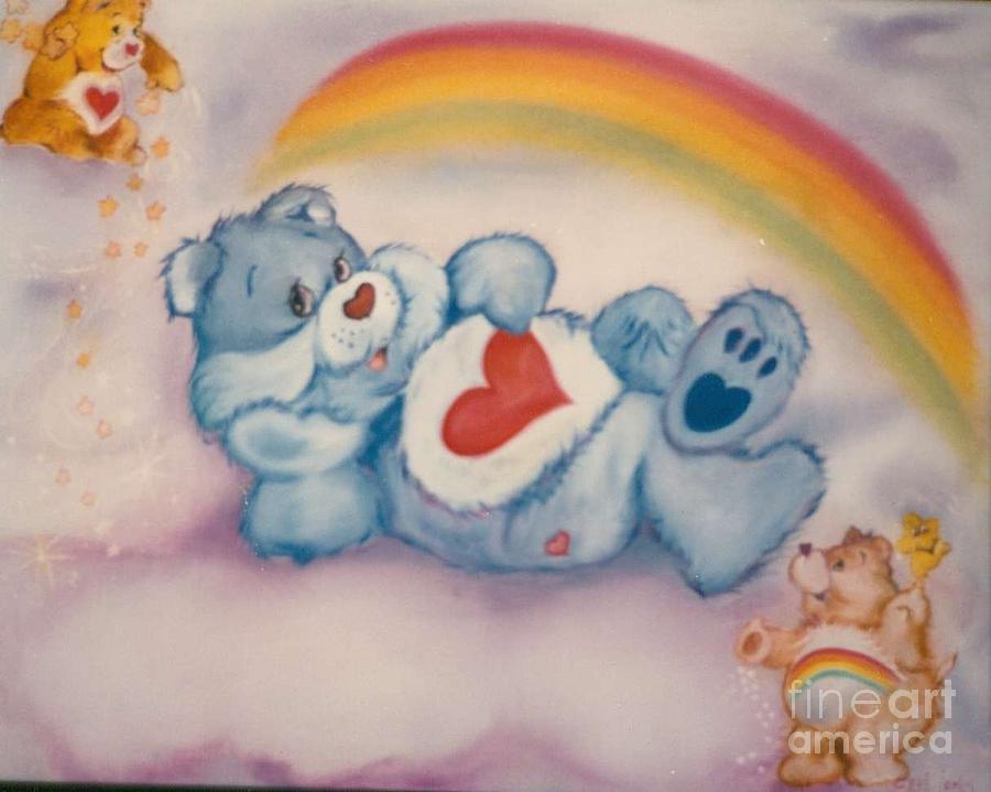 Care Bears Acrylic Painting