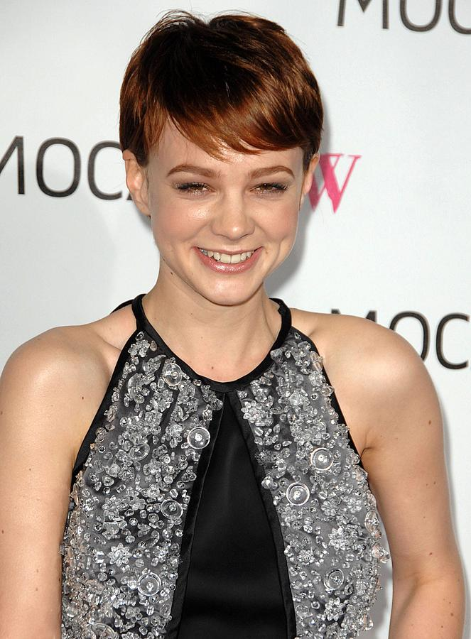 Carey Mulligan Wearing A Prada Dress Photograph