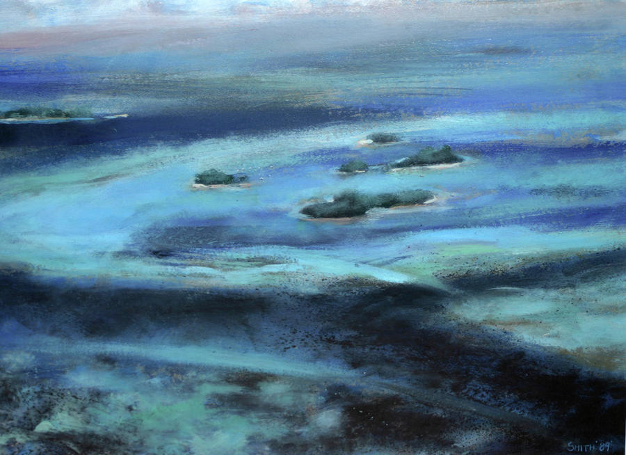 Seascape Painting - Caribbean Blue by Tom Smith