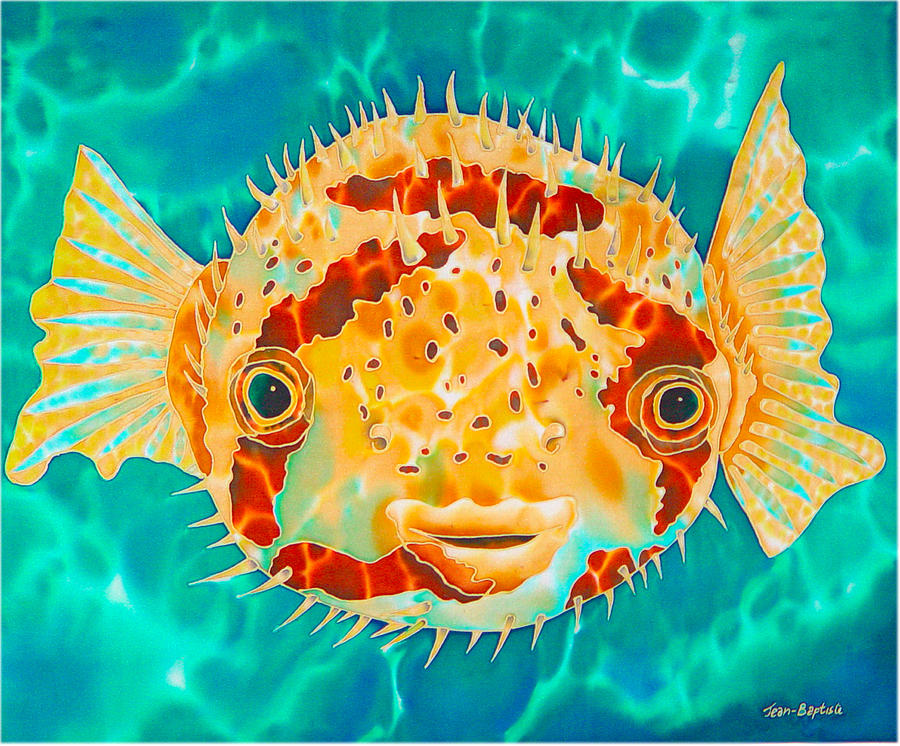 Caribbean Puffer Painting