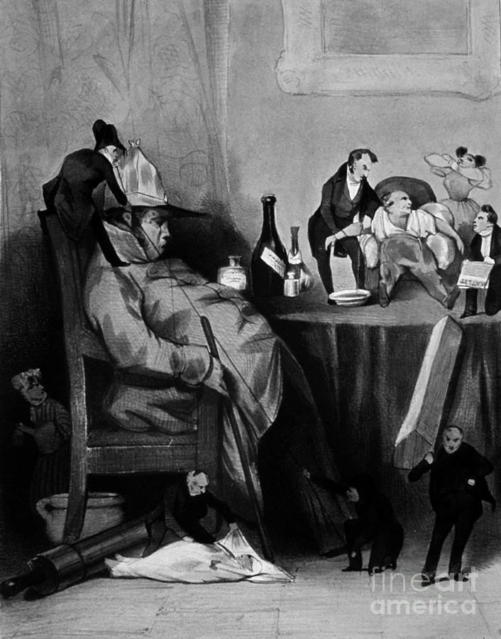 Caricature Of Hypochondriac, 1833 Photograph