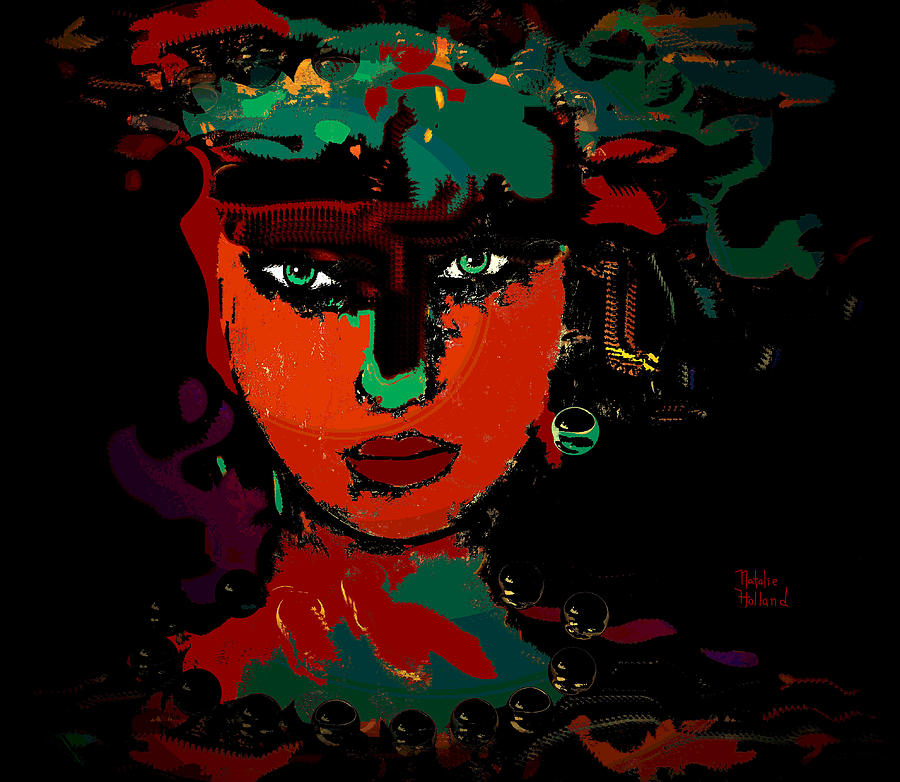Carla Mixed Media  - Carla Fine Art Print