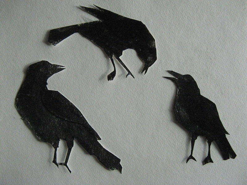 Carls Crows Painting  - Carls Crows Fine Art Print