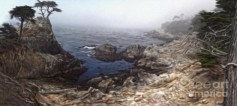 Carmel California Painting - Carmel California - Lone Pine by Gregory Dyer