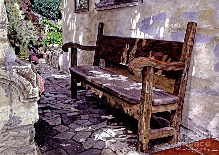 Carmel Mission Bench Painting