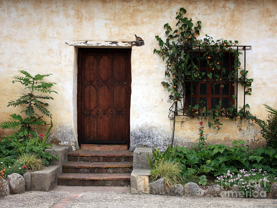 Carmel Mission Door Photograph