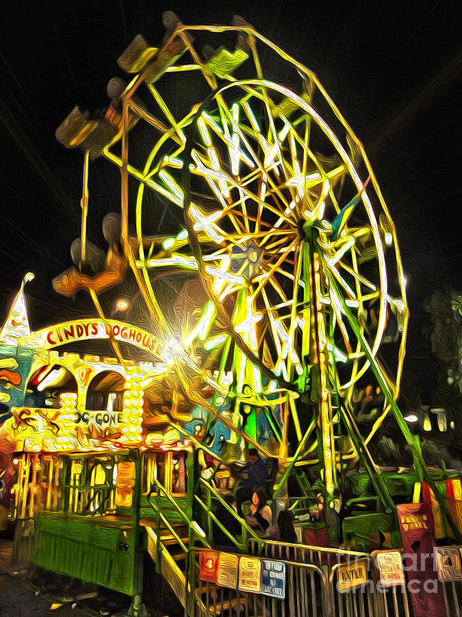 Carnival Painting - Carnival Ferris Wheel by Gregory Dyer