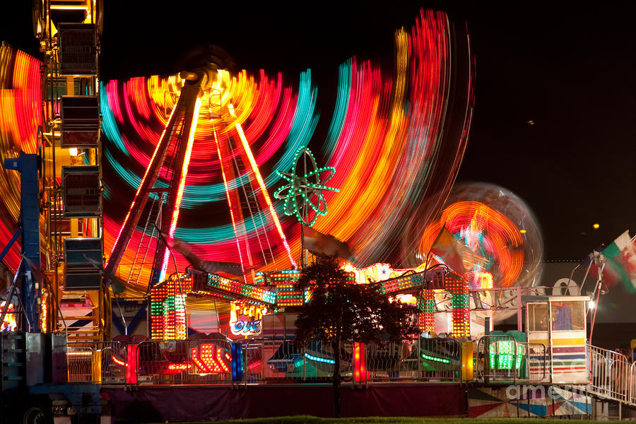 Carnival In Motion Photograph