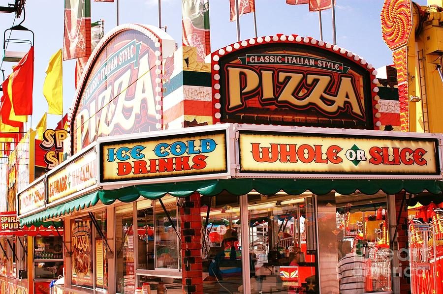 Carnivals fairs and festival art pizza stand photograph for Craft fairs and festivals