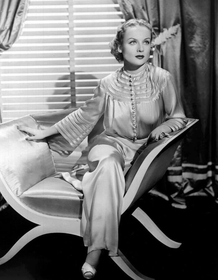 Carole Lombard, Sitting, In A 1930s Photograph  - Carole Lombard, Sitting, In A 1930s Fine Art Print