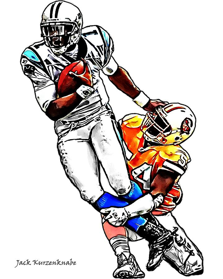 Cam Newton Free Coloring Pages