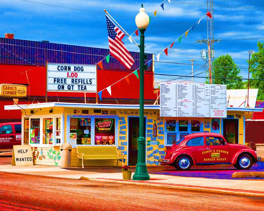Automobile Photograph - Carols Corner by Mike OBrien