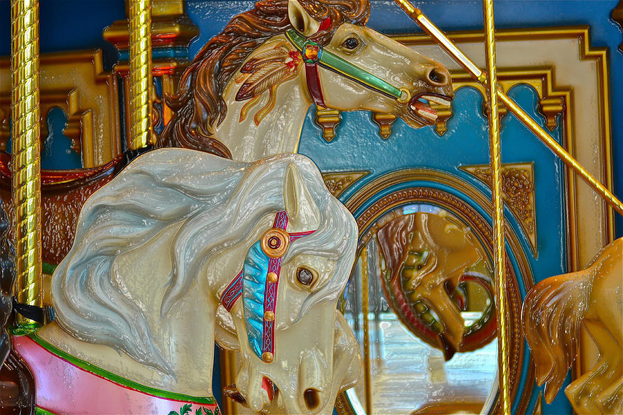 Carousel Horses Photograph  - Carousel Horses Fine Art Print